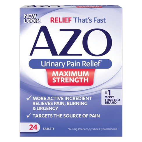 AZO Urinary Pain Relief™ Maximum Strength Tablets - 24ct - image 1 of 2