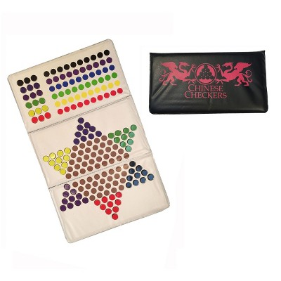 WE Games Magnetic Checkbook Chinese Checkers Game - Great for Travel