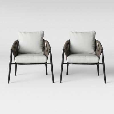 Casson 2pk Patio Club Chair Gray Project 62 Brickseek