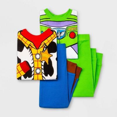 Baby Boys' 4pc Toy Story Snug Fit Pajama Set - Blue 18M