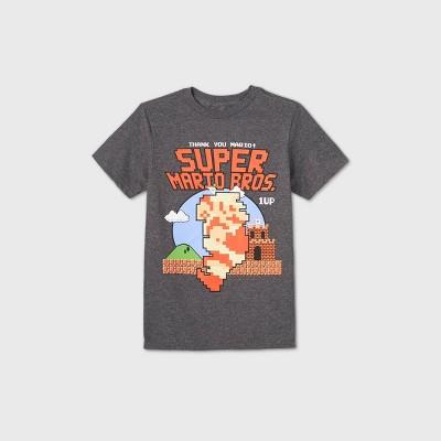 Boys' Short Sleeve Nintendo Mario T-Shirt - Charcoal Heather
