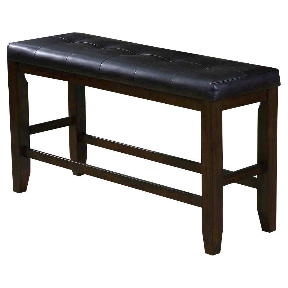 Urbana Counter Height Bench Wood/Espresso (Brown)/Black - Acme