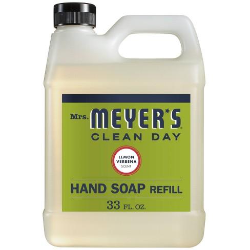 Mrs. Meyer's Lemon Verbena Liquid Hand Soap Refill - 33 fl oz - image 1 of 4