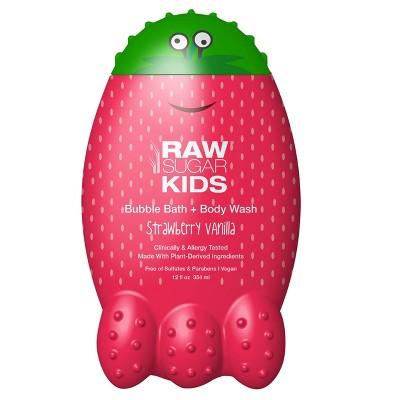 Raw Sugar Kids Bubble Bath + Body Wash Strawberry Vanilla - 12 fl oz