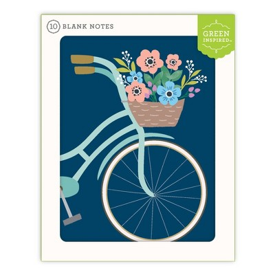 Green Inspired 10ct Bicycle Blank Cards