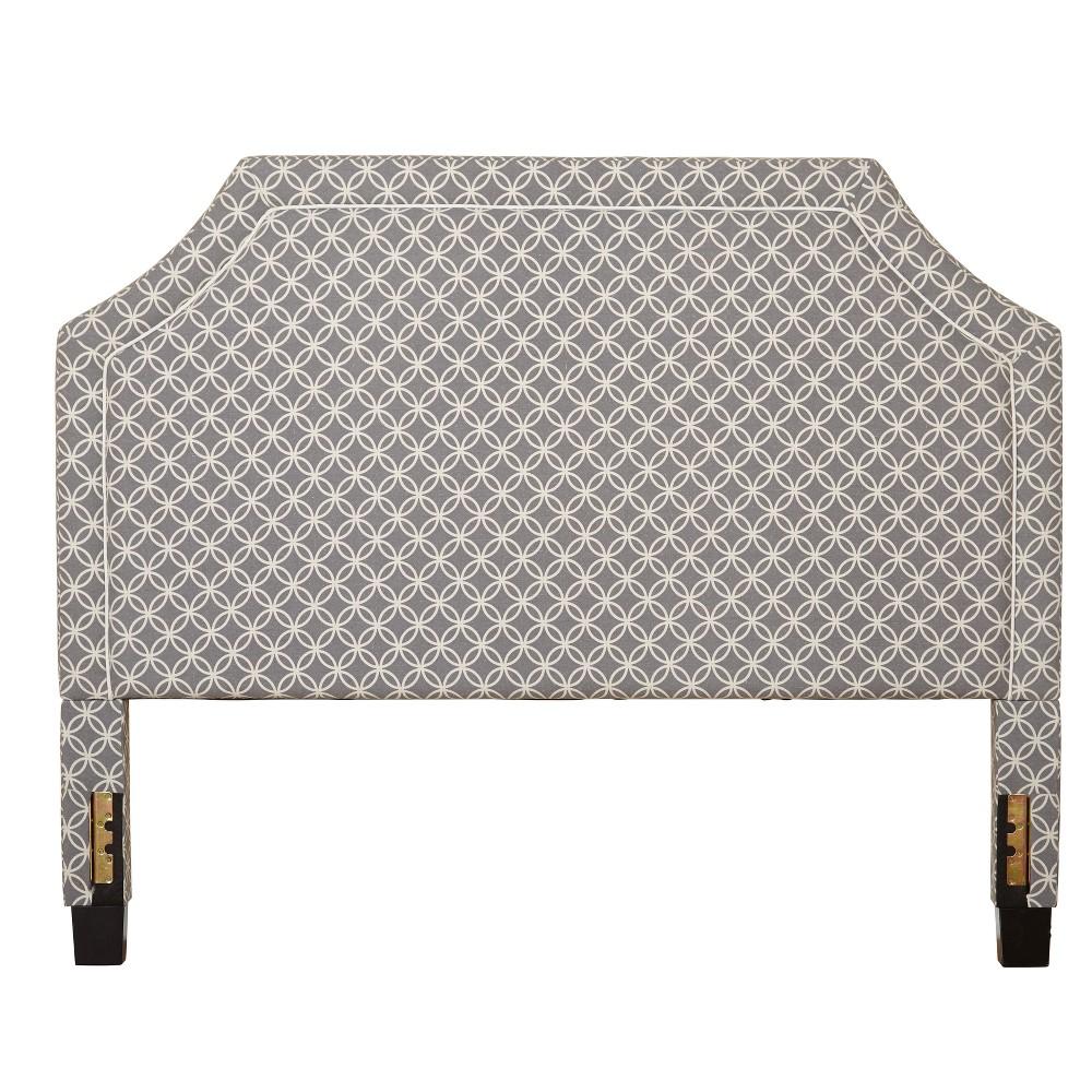 Stella Full Upholstered Headboard - Gray - Buylateral