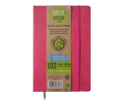 Onyx & Green Journal Red : Pu, Elastic Closure, Stone Paper (Hardcover) - image 1 of 1