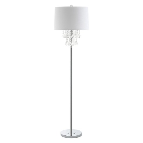 """61"""" Abigail Crystal / Metal LED Floor Lamp Clear (Includes Energy Efficient Light Bulb) - JONATHAN Y - image 1 of 4"""