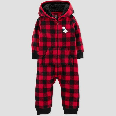 Baby Boys' Buffalo Check Jumpsuit - Just One You® made by carter's Red 3M