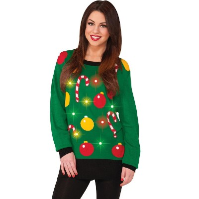 Forum Novelties Light Up Christmas Sweater Adult Costume