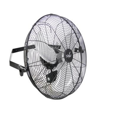 Vie Air Dual Function 18 Inch Wall Mountable Tilting Floor Fan with 3 Speed Motor in Black