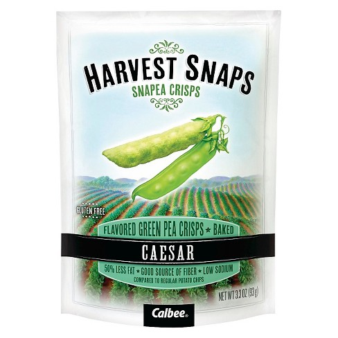Calbee Harvest Snaps Caesar Green Pea Crisps - 3.3oz - image 1 of 3