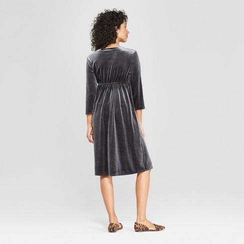 754a2573d07 Maternity Velvet Cross Front Dress - Isabel Maternity By Ingrid   Isabel™  Black   Target