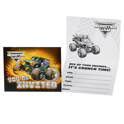 Monster Jam 8ct Party Invites