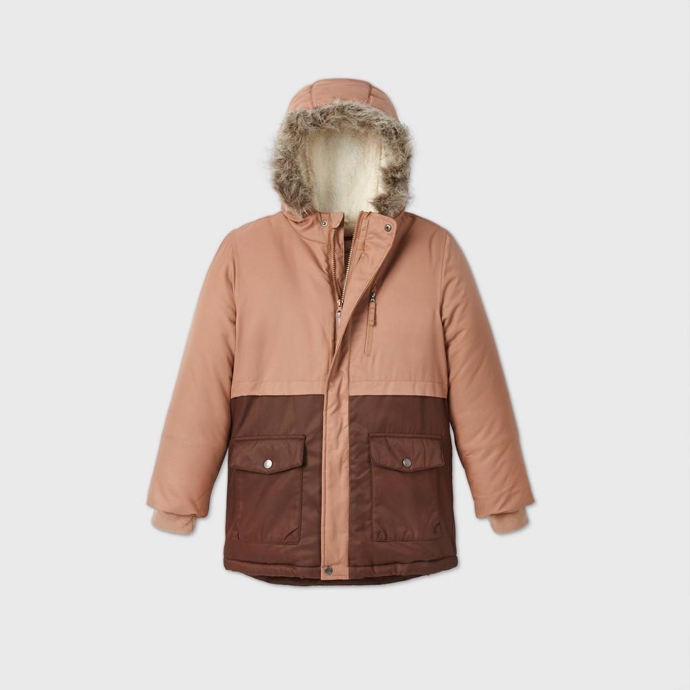 Boys 39 Winter Parka Jacket Cat 38 Jack 8482 Brown Xs