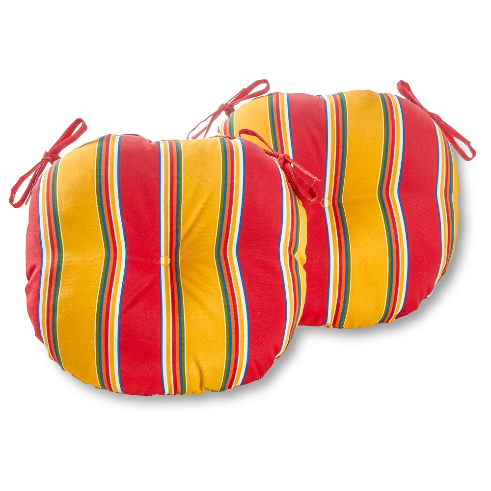 Outdoor Bistro Chair Cushion Set - Carnival - Greendale Home Fashions, Red