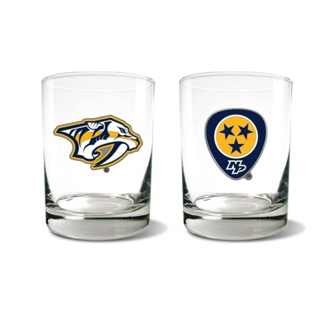 NHL Nashville Predators Rocks Glass Set - 2pc - image 1 of 1