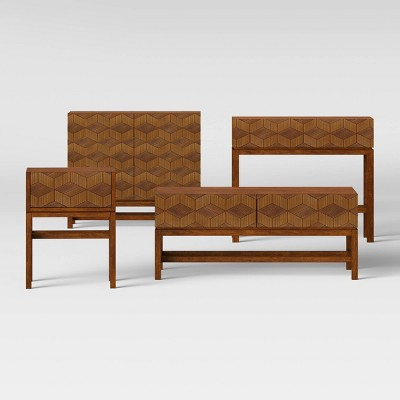 Super Tachuri Geometric Front Coffee Table Brown Opalhouse Inzonedesignstudio Interior Chair Design Inzonedesignstudiocom