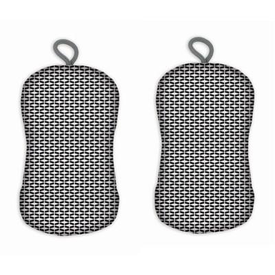 2pk Geometric Tile Print Sponge - MU Kitchen