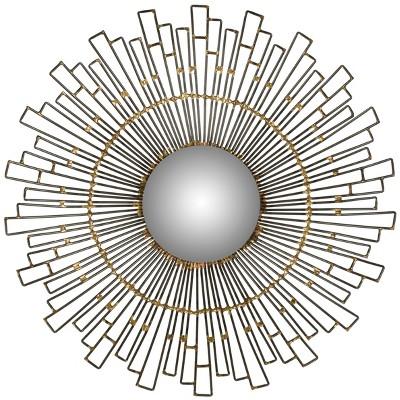 Sunburst Starlight Decorative Wall Mirror Brown - Safavieh