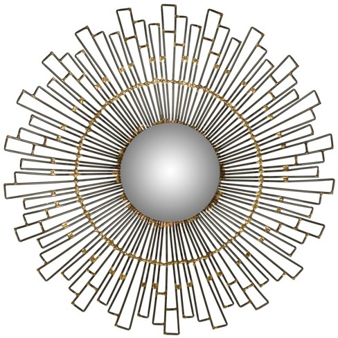 Sunburst Starlight Decorative Wall Mirror Brown - Safavieh® - image 1 of 3