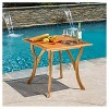 """Hermosa 31.5"""" Square Acacia Wood Table -Teak Finish - Christopher Knight Home - image 2 of 4"""