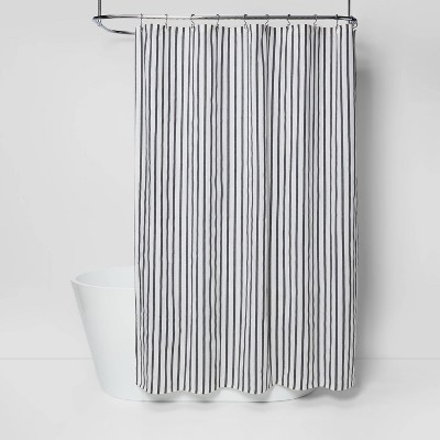 Stripe Shower Curtain Black/White - Project 62™