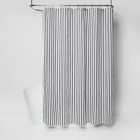 Stripe Shower Curtain Black/White - Project 62™ - image 1 of 4