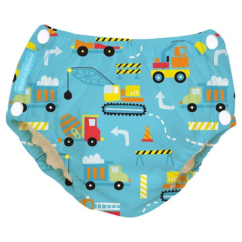Charlie Banana Reusable Easy Snaps Swim Diaper, Under Construction (Assorted Sizes) - image 1 of 4