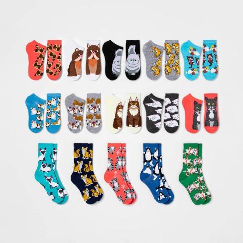 Women S Cat Lovers 15 Days Of Socks Advent Calendar Assorted Colors 4 10 Target