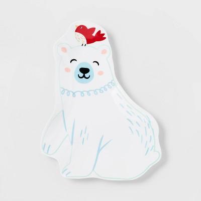 """8"""" Melamine Bear Figural Plate - Wondershop™"""