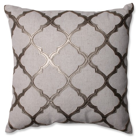 Glimmer Metal Throw Pillow - Pillow Perfect® - image 1 of 2