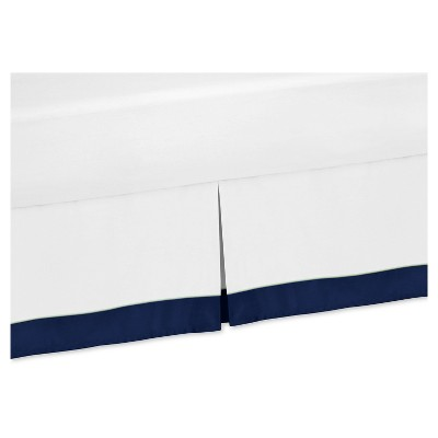 Navy & White Bed Skirt - Sweet Jojo Designs®