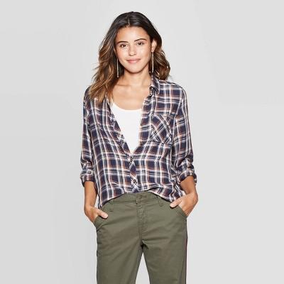 Women's Plaid Long Sleeve Button Down Shirt   Universal Thread™ by Universal Thread