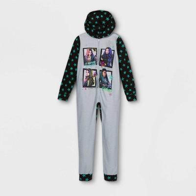 Girls' Descendants Blanket Sleeper Union Suit - Gray