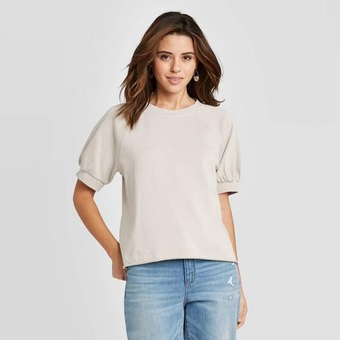 Women's Short Sleeve Sweatshirt - Universal Thread™ - image 1 of 3