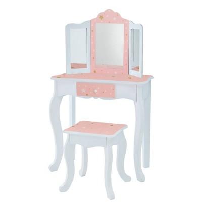 Fashion Twinkle Star Gisele Play Vanity Set Pink/White - Teamson Kids
