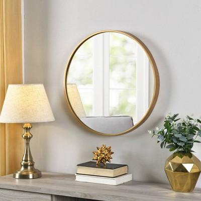 Beckham Round Mirror Gold - FirsTime