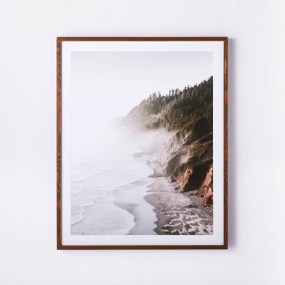 "30"" x 36"" Foggy Oceanside Trees Framed Wall Art - Threshold™ designed with Studio McGee"
