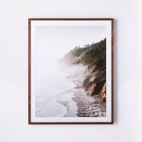 "30"" x 36"" Foggy Oceanside Trees Framed Wall Art - Threshold™ designed with Studio McGee - image 1 of 3"