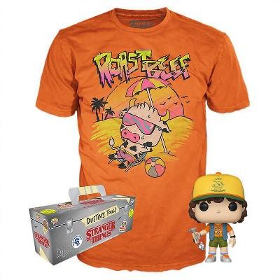 Funko POP! Television Collectors Box: Stranger Things - Dustin POP! & Roast Beef Tee - L
