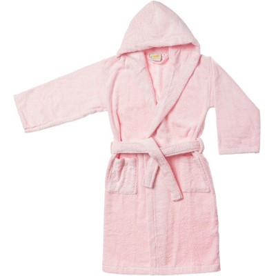 Soft and Warm Cotton Terry Kids' Hooded Bathrobe - Blue Nile Mills