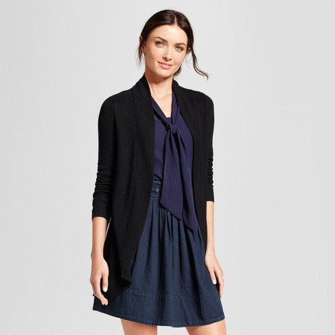 Women s Cocoon Cardigan - A New Day™ Black M   Target 49b4a7d7a