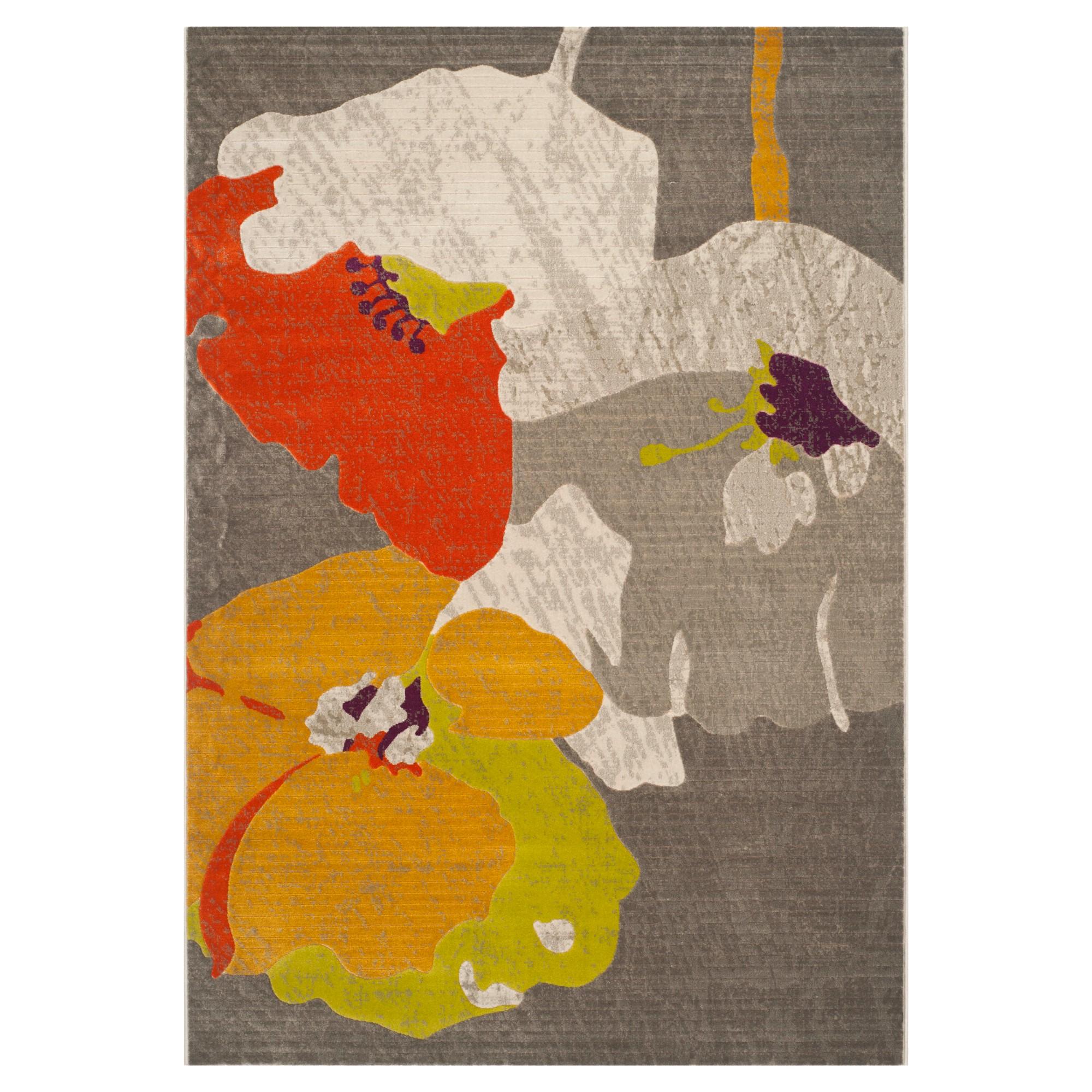 'Lilian Area Rug - Dark Gray/Ivory(4'1''x6') - Safavieh , Gray White Orange'