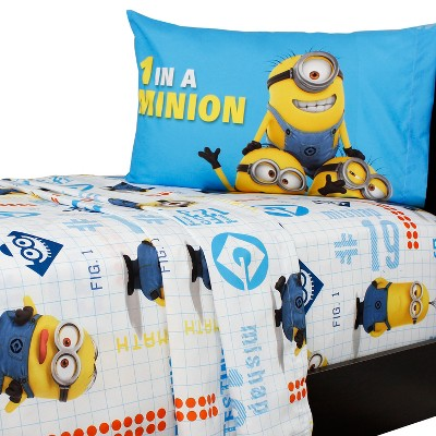 Despicable Me Sheet Set Minions at Work Bedding