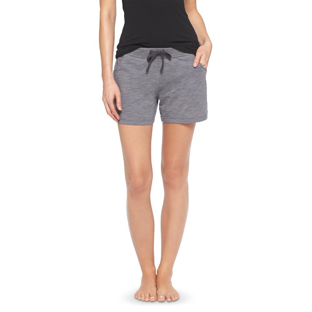 Women's Knit Sleep Shorts - Heather Gray XL