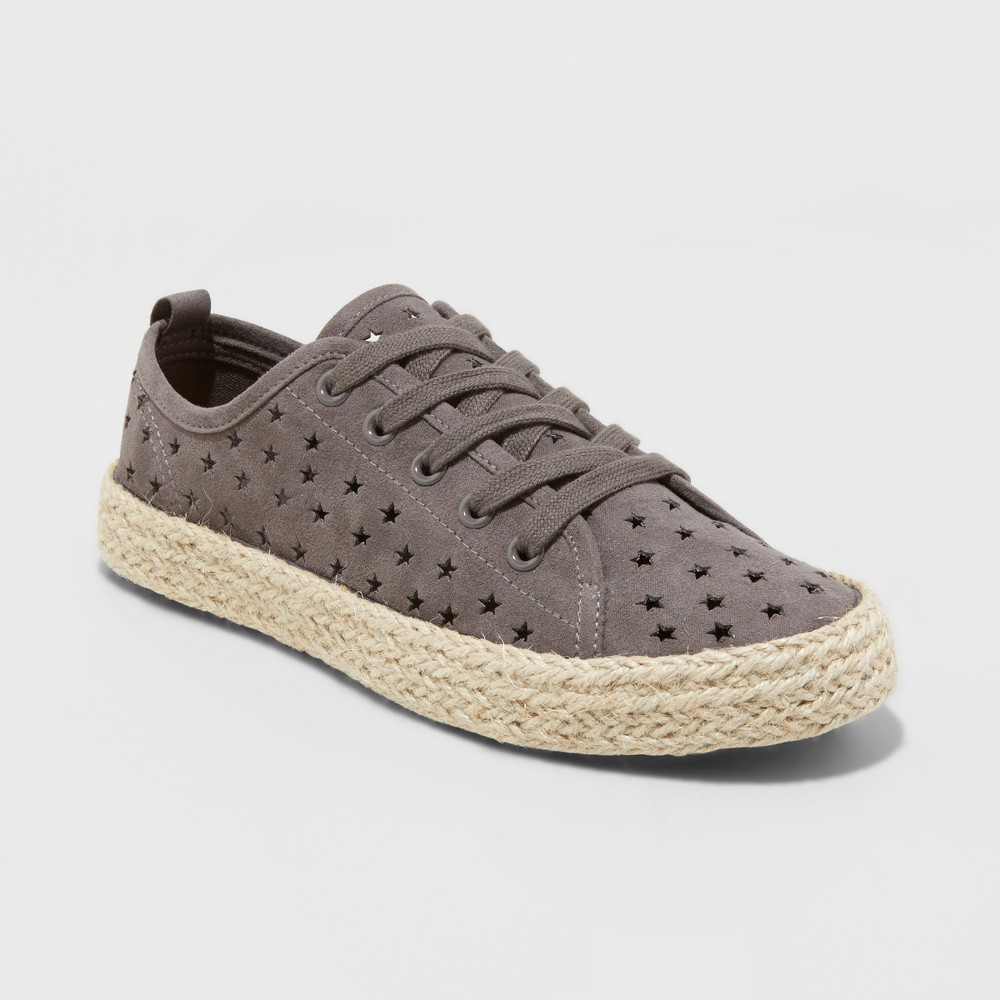Women's Jena Espadrille Lace Up Sneakers - Universal Thread Gray 7, Size: Small