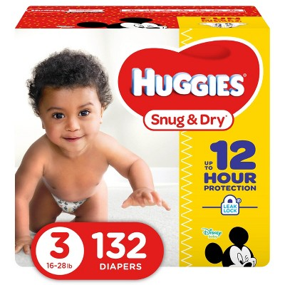 Huggies Snug & Dry Diapers Super Pack - Size 3 (132ct)