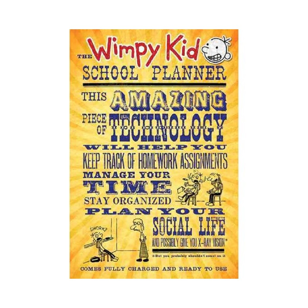 The Wimpy Kid School Planner ( Diary of a Wimpy Kid) (Calendar) by Amulet Books