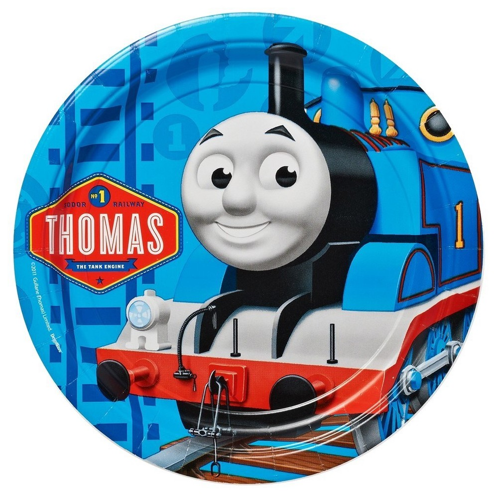 8ct Thomas & Friends Round Disposable Plates, Multi-Colored
